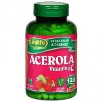 Acerola Vitamina C 120 cápsulas Unilife -