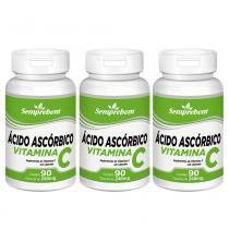 Ácido Ascórbico Vitamina C  Semprebom - 270 Cap. de 240 mg. -