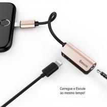 Adaptador Baseus L32 Lightning para P2 (3.5mm) + Entrada Lightning -