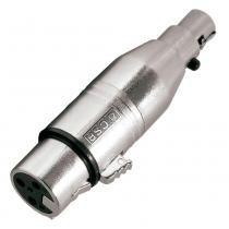Adaptador mini xlr fêmea / xlr fêmea 3 pinos - 508 csr - Csr