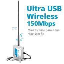 Adaptador Wireless Ultra USB 150Mbps com antena 7dbi 500mw - Gts Network - Gts Network