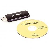 Adaptador X-Micro Wireless USB 11g  54Mbps- Preto - X-Micro
