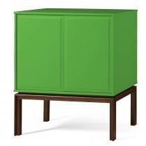 Adega Quartzo 2 Portas Cor Cacau Com Verde - 29132 - Sun House