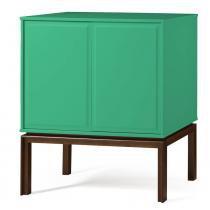Adega Quartzo 2 Portas Cor Cacau Com Verde Anis - 29135 - Sun House