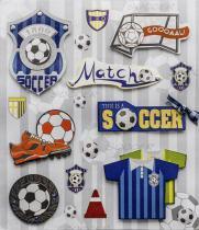 Adesivo 3D Futebol AD1585 - Toke e Crie - Toke e Crie