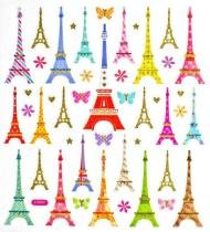 Adesivo Artesanal I Torre Eiffel Estilizada AD1527 - Toke e Crie - Toke e Crie