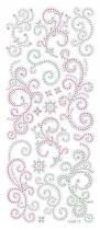 Adesivo Brilho de Glitter Arabescos AD1369 - Toke e Crie - Toke e Crie