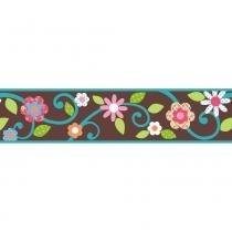 Adesivo de Parede Floral Marrom Faixa Removível - Roommates - Roommates