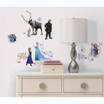 Adesivo de Parede Frozen Disney com gliter  Roommates - Roommates