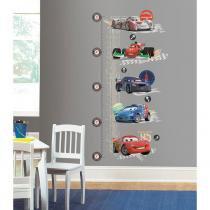 Adesivo de Parede Infantil Carros 2 Disney Grafico de crescimento Removível - Roommates - Roommates