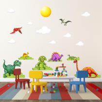 Adesivo de Parede Infantil Dinossauros - Quartinhos