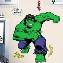 Adesivo de Parede Infantil O Incrível Hulk - Clássicos da Marvel - Gigante  Removível - Roommates - Roommates