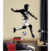 Adesivo de Parede Jogador de Futebol Gigante Removível - Roommates - Roommates