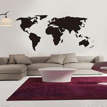 Adesivo De Parede Mapa Mundi 200x90cm - Adesivo Vinil - Aladim4you