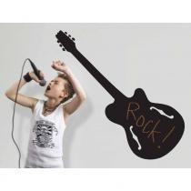 Adesivo de Parede Quadro-negro Guitarra Removível - Roommates - Roommates