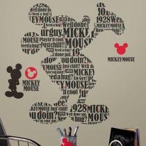 Adesivo de Parede Tipografia Mickey Mouse   Roommates - Roommates
