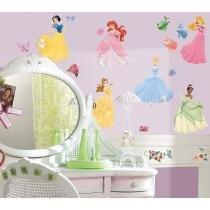 Adesivo decorativo reposicionável - Disney Princesas - Princess Peel e Stick Wall Decal - RoomMates/York - RoomMates/York