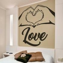 Adesivo decorativo  romântico grd - 1,20 x 0,80 - i love - Duhelu