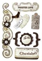Adesivo Decorativo Vintage Amor AD1216 - Toke e Crie - Toke e Crie