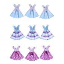 Adesivo Elegante Vestidos 3D com Glitter AD1830 - Toke e Crie - Toke e Crie