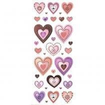 Adesivo Luxo de Glitter Corações AD1684 - Toke e Crie - Toke e Crie