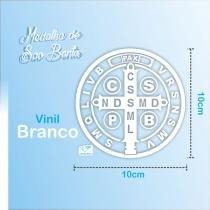 Adesivo Medalha de São Bento Grande - Vinil Branco - Canção nova