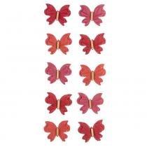 Adesivo Mini Borboletas de Papel Rouge Coleção Feito à Mão AD1687 - Toke e Crie - Toke e Crie