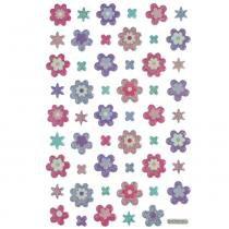 Adesivo Mini Puffy Flores AD1763 - Toke e Crie - Toke e Crie