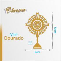 Adesivo Ostensório Médio - Vinil Dourado - Canção nova