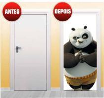 Adesivo para porta - Kung fu panda - 210 x 90 cm - x4adesivos