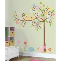 Adesivo para Quarto de Bebê Árvore Encantada Removível - Roommates - Roommates