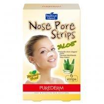 Adesivo Removedor de Cravos Purederm Botanical Choice Nose Pore Strips Aloe - 6 Unidades - Purederm