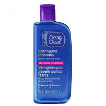 Adstringente Anticravos Clean  Clear - Tratamento para Rosto Oleoso - 200ml - Clean  Clear