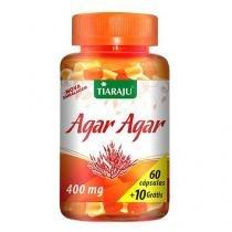 Agar Agar - Tiaraju - 60 + 10 cápsulas 400mg -