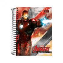Agenda Avengers espiral - 2018 - Homem de Ferro -  Tilibra -