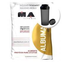 Albumax 100 - 500g Leite cond. + Coqueteleira 600ml Preta - Max Titanium -