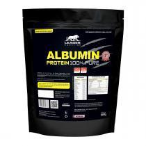 Albumina ALBUMIN 100 PURE - Leader Nutrition - Refil 500grs - Morango -