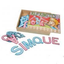 Alfabeto Recortado Móvel Simque - Simque Brinquedos