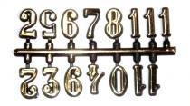Algarismo e Números Arábico 1,5cm Grande Ouro - Uniart - Uniart