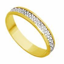 Aliança Casamento em Ouro 18k Bodas de Prata Feminina abp20 - Joiasgold