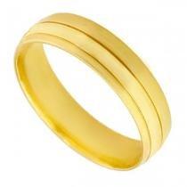 Aliança de Casamento em Ouro 18k Acetinada Masculina ea2f60 - Joiasgold