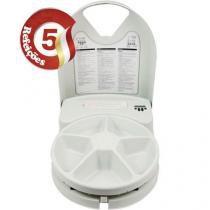Alimentador Eletrônico para Cães e Gatos com Programação de até 5 Refeições - Eatwell Plus Branco - Amicus