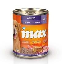 Alimento Úmido Max Lata para Cães Adultos-Cordeiro e Frango - Total