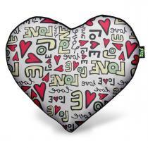 Almofada Coração Textura Love - YAAY