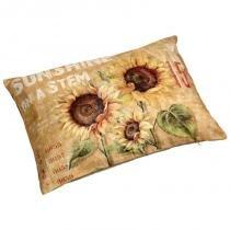Almofada de Algodão com Estampa Girassol II - Maria Pia Casa