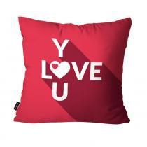 Almofada Decorativa Avulsa Pink Love You - Pump up