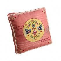 Almofada Decorativa de Tecido com Enchimento Birds - Maria Pia Casa