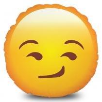 Almofada Emoji Cínico - Amarelo - Mobhi