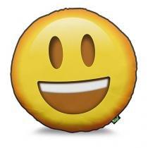 Almofada Emoji Feliz Emoticon - Amarelo - Único - Gorila Clube