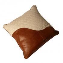 Almofada Personalizada Decorativa de Couro Brown - Maria Pia Casa
